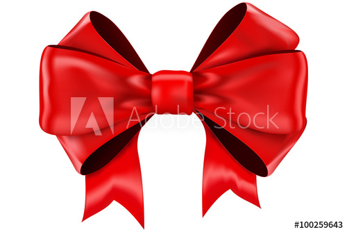 500x334 Red Bow Vector.