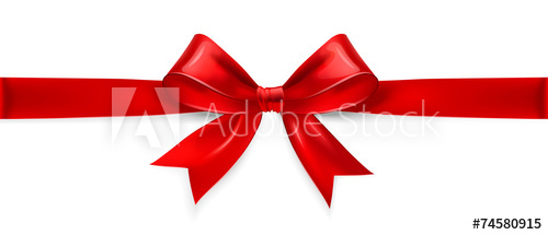 500x215 Red Bow. Vector