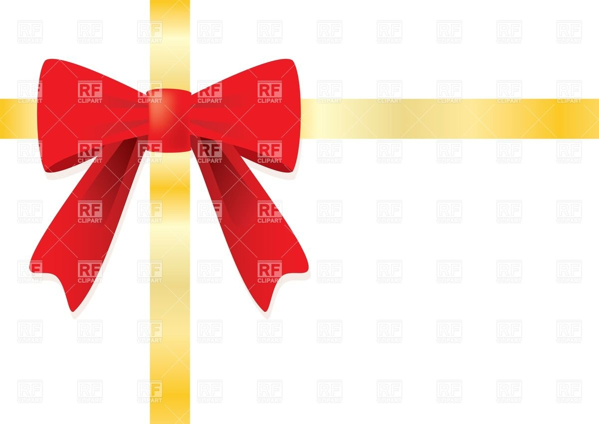 1200x849 Ribbon And Red Gift Bow Vector Image Vector Artwork Of Design