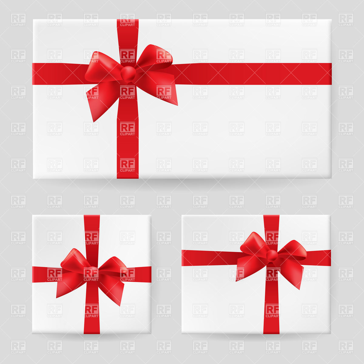 1200x1200 White Gift Box Tied With A Red Ribbon And Bow Vector Image