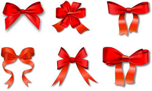 500x300 Beautiful Red Bow Vector Material Free Download