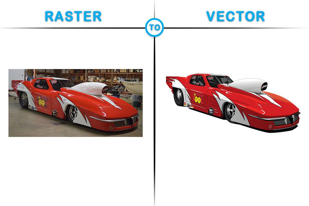 1024x683 Futuristic Cool Red Car Vector Design