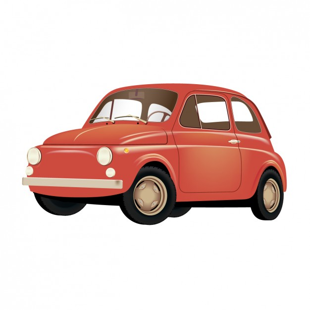 626x626 Old Red Car Vector Free Download