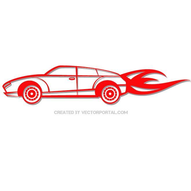 660x660 Red Car Vector Clip Art