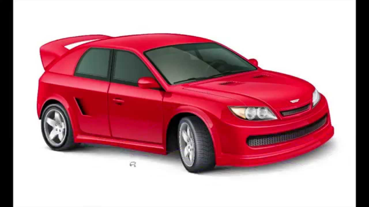 1280x720 Red Car Vector Illustration