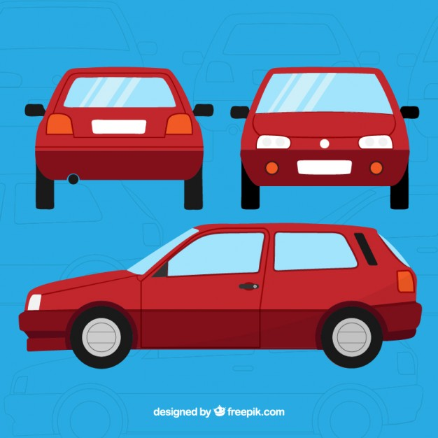 626x626 Red Car Vector Premium Download