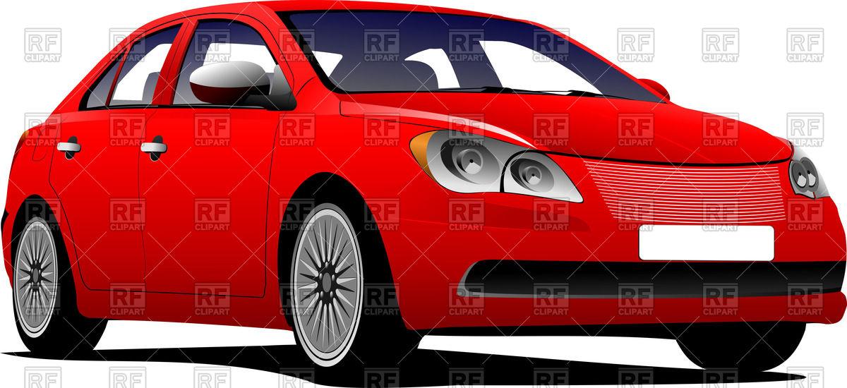 1200x550 Red Car Sedan On Road