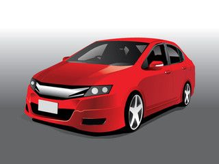 320x240 Vector Sports Red Car Car Art Illustrations And