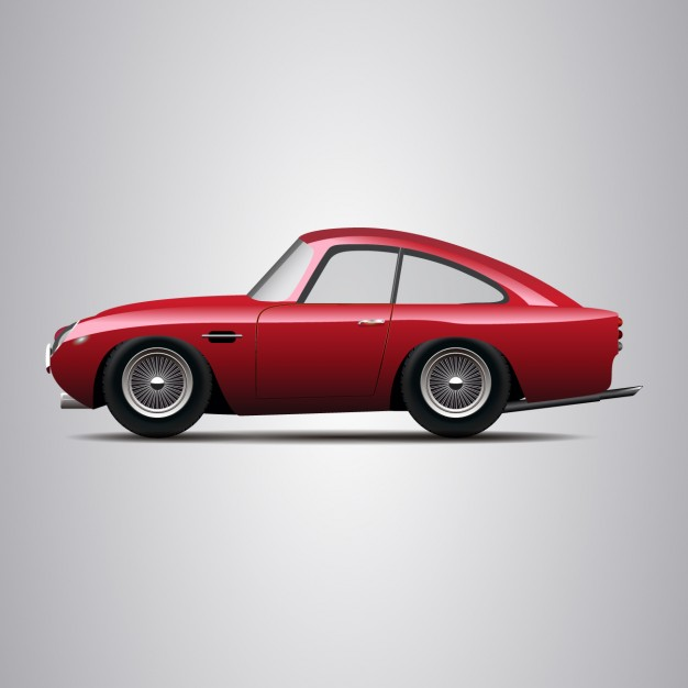 626x626 Vintage Red Car Vector Free Download