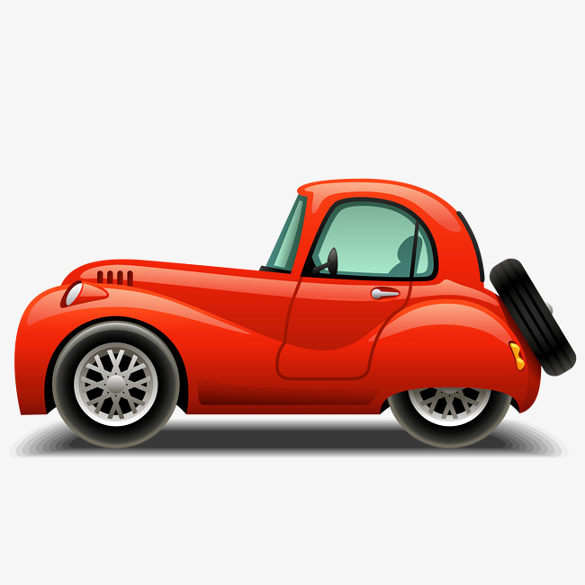 650x651 Cartoon Red Car Vector, Cartoon Vector, Car Vector, Car Clipart