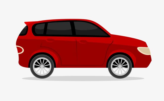 650x400 Cartoon Vector Red Car, Cartoon Vector, Car Vector, Hand Painted