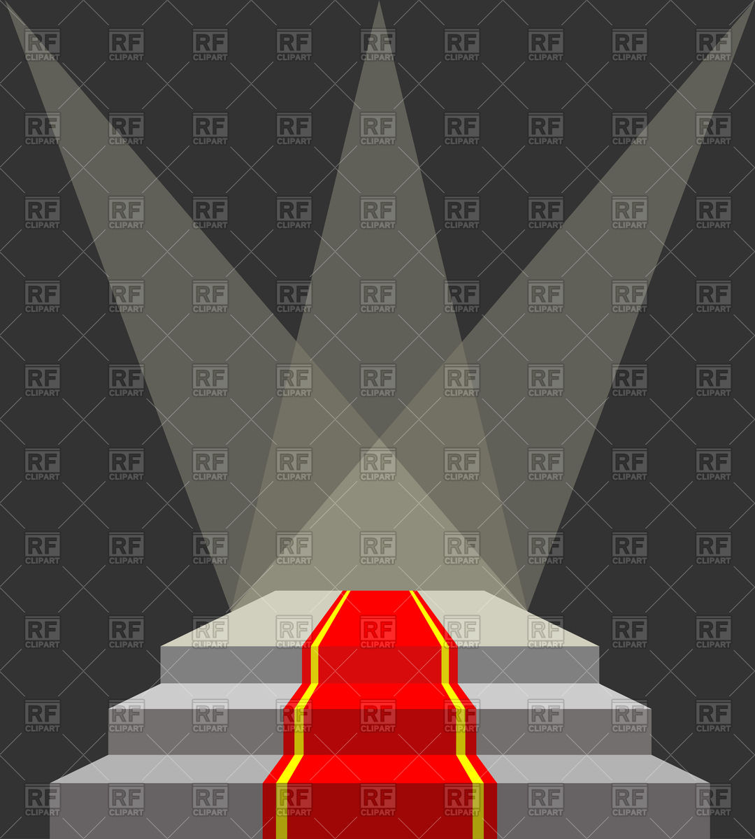 1080x1200 Podium And Searchlights With Red Carpet Vector Image Vector