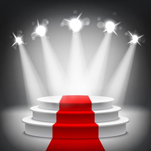 500x500 Podium With Red Carpet And Spotlight Vectors 06 Free Download