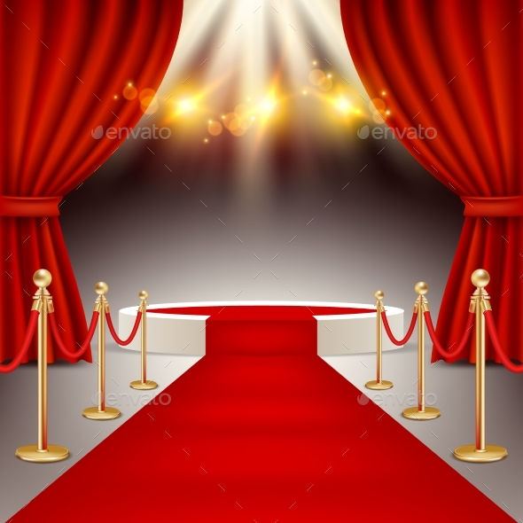 590x590 Winners Podium With Red Carpet Vector Realistic By Siberianart