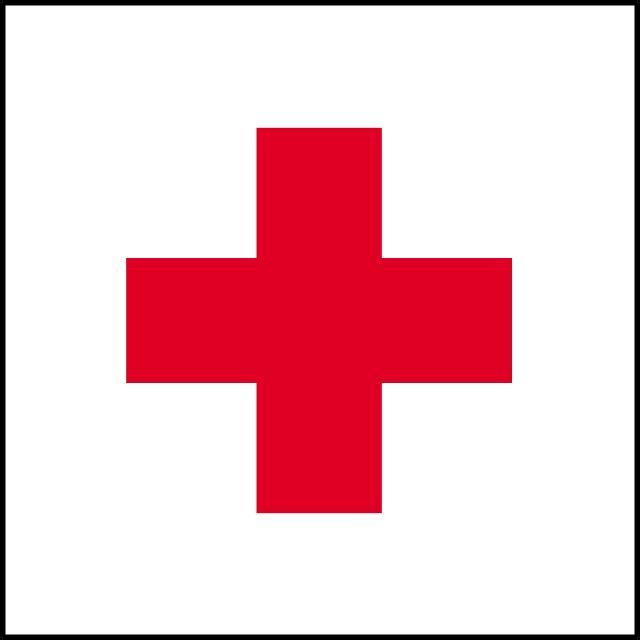 640x640 Red Cross Vector Flag
