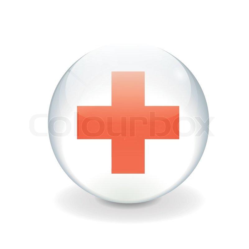 800x800 Round Red Cross Vector Flag Stock Vector Colourbox