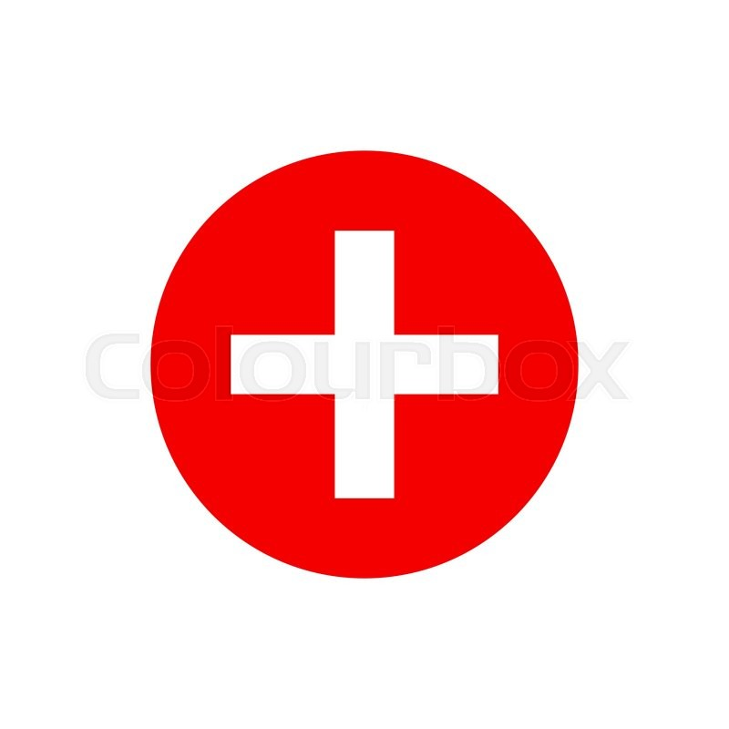800x800 Vector Red Cross Icon. Red Cross Aid. Red Cross Day Design Concept