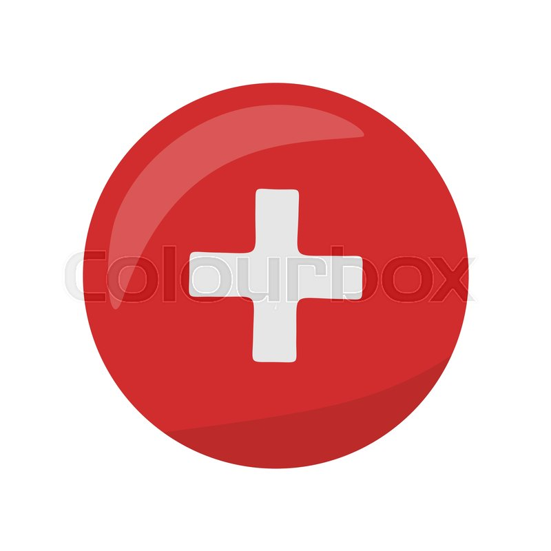 800x800 Red Cross Icon On The Button. First Medical Aid Ambulance Sign