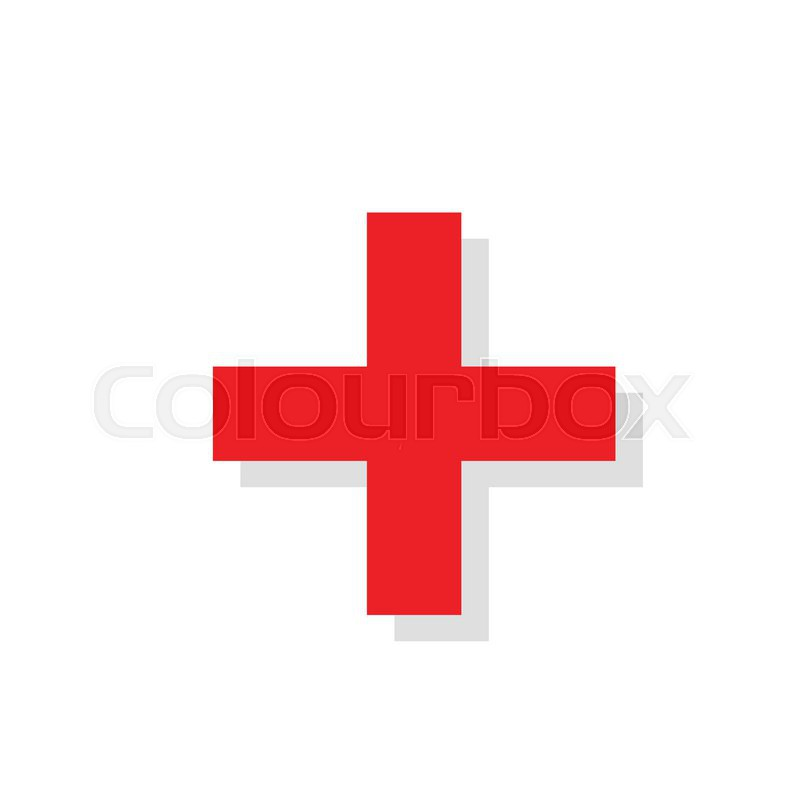 800x800 Red Cross On White Background Medical Flat Icon Vector