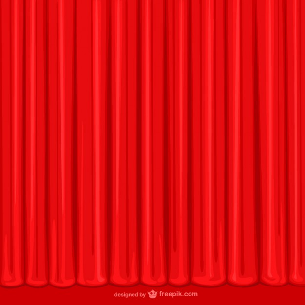 626x626 Hand Drawn Red Curtain Vector Free Download