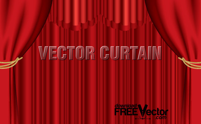 650x402 Red Curtain Free Vector 123freevectors