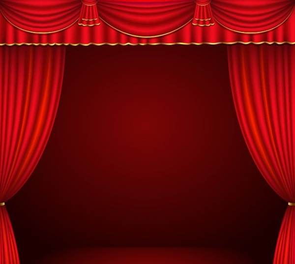 600x537 Red Curtain Vector Free Vector In Encapsulated Postscript Eps