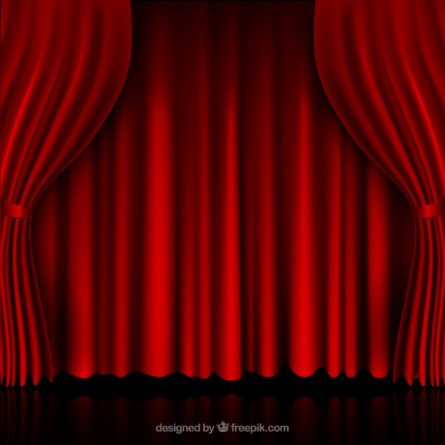 626x626 Red Curtains Vector Free Download