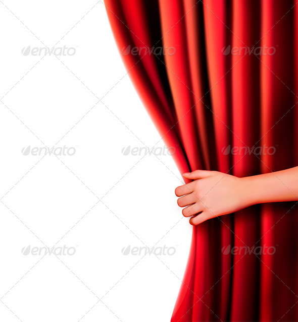 590x639 Background With Red Velvet Curtain Vector Illustr By Almoond