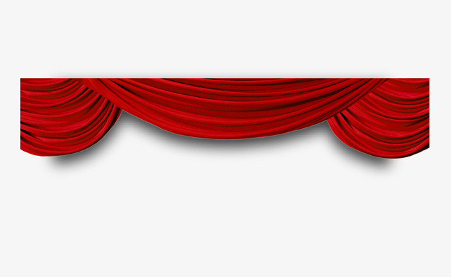 650x400 Vector Painted Red Curtain, Vector, Hand Painted, Red Curtains Png