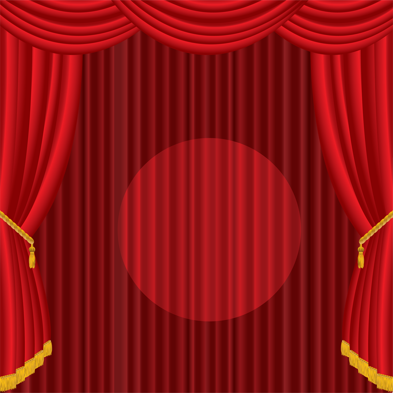800x800 Vector Red Curtain