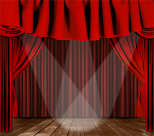 306x270 Luxurious Red Curtain Vector 02 Free Download