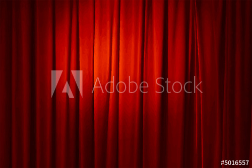 500x334 Red Curtain, Vector Illustration