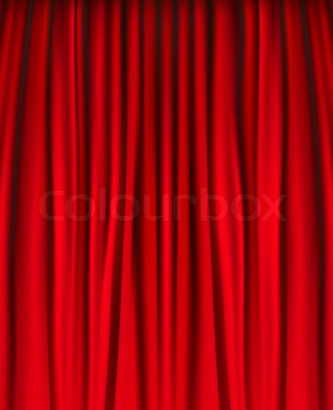 650x800 Background With Red Velvet Curtain. Vector Illustration. Stock