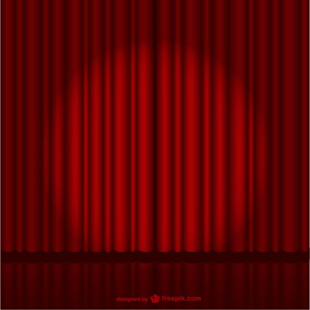 626x625 Dark Red Stage Curtain Vector Free Download