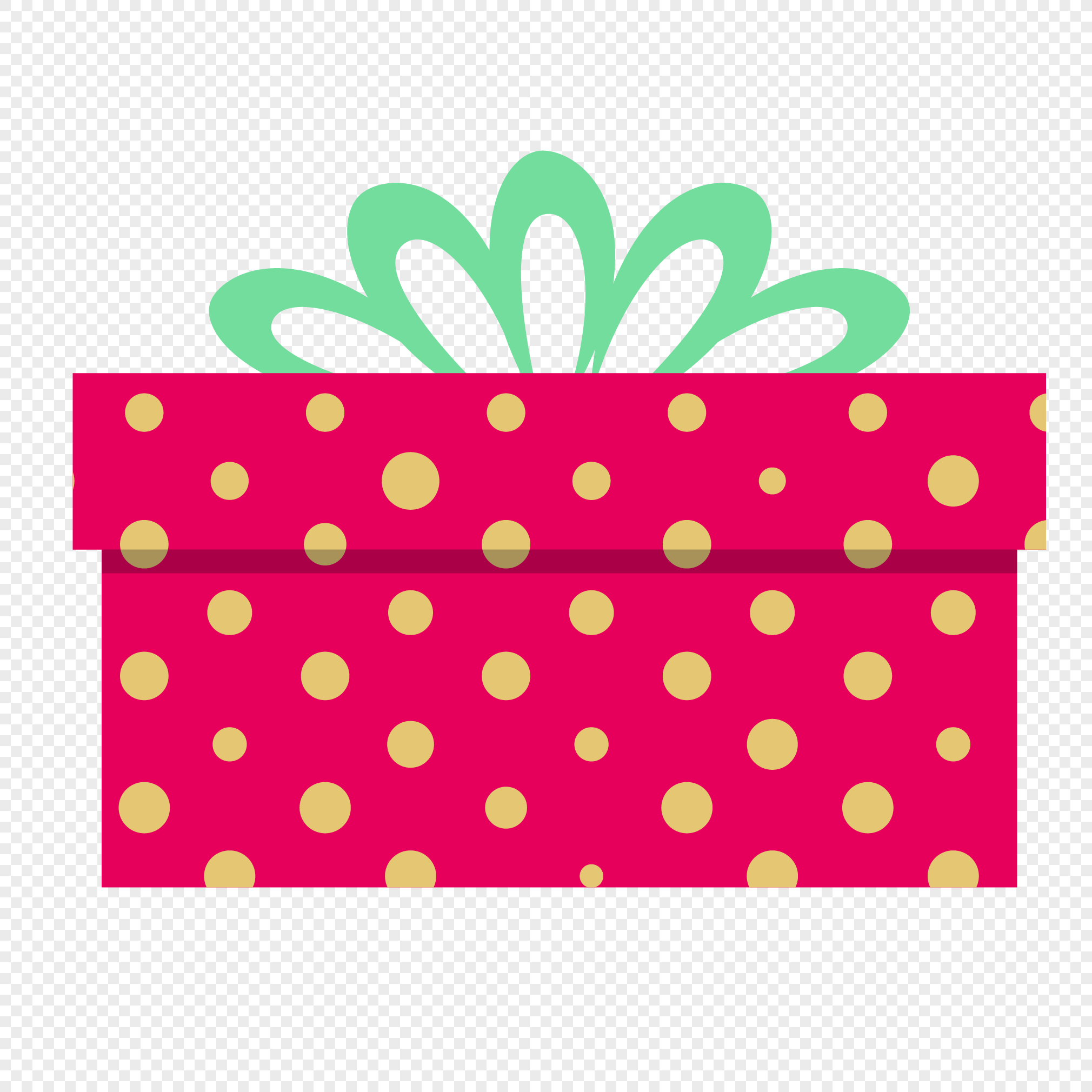 2020x2020 Red Dot Gift Box Vector Material Png Image Picture Free Download