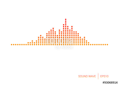 500x360 Sound Wave Red Dot Vector Stock Image And Royalty Free Vector