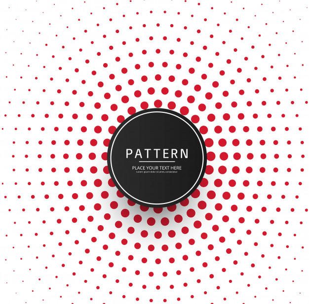 626x617 Abstract Red Dots Pattern Background Vector Premium Download