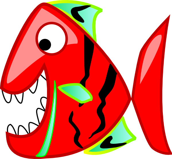 600x556 Red And Blue Fish Vector Royalty Free