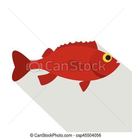 450x470 Red Betta Fish Icon, Flat Style. Red Betta Fish Icon. Flat