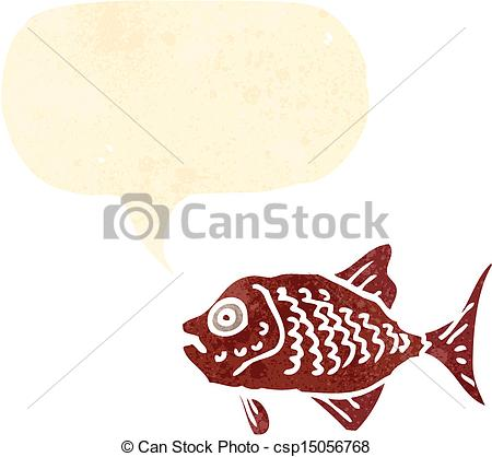 450x418 Retro Cartoon Red Fish.