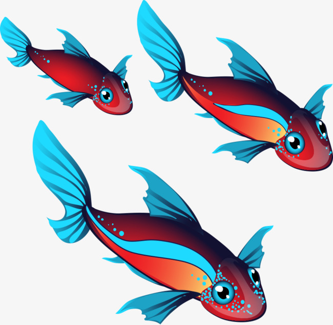650x634 Vector Red Fish Blue, Fish Vector, Blue Vector, Red Fish Blue Png