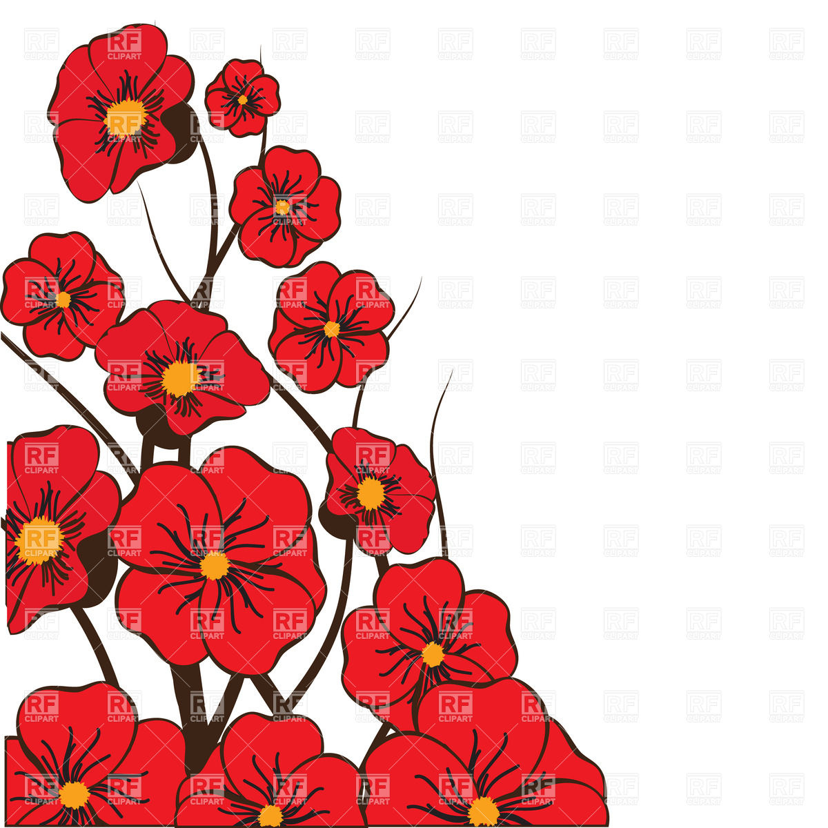 red flower vector at getdrawings com free for personal use red