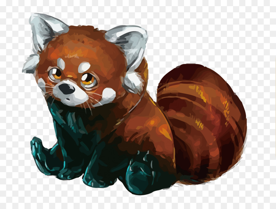 900x680 Red Panda Giant Panda Drawing