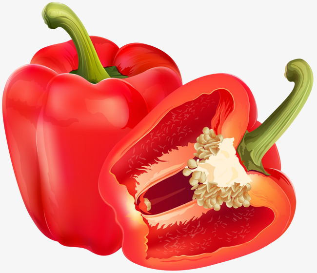 650x560 Red Bell Pepper, Vector Material, Chili, Bell Pepper Png And