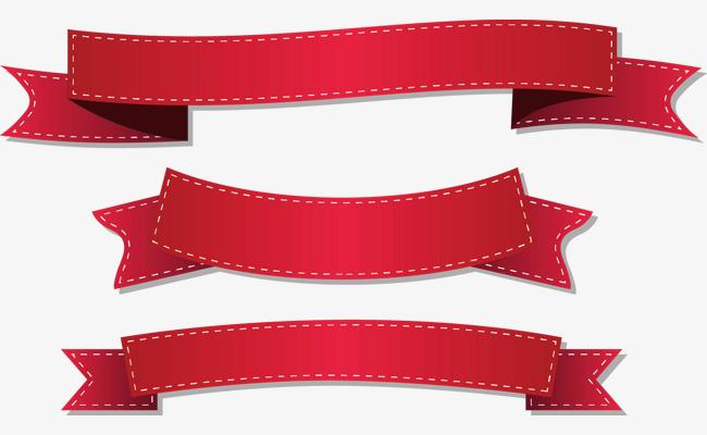 650x400 Red Ribbon Vector, Red Ribbon, Vector, Color Ribbon Png And Vector