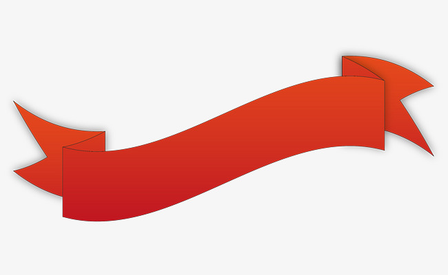650x400 Red Ribbon Vector, Silk Ribbon, Ribbon Banner, Red Silk Strip Png