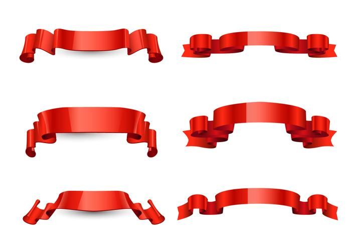 700x490 Free Red Ribbon Vector