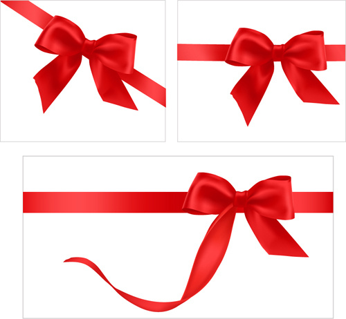 500x462 Gift Card With Red Ribbons Design Vector Free Vector In