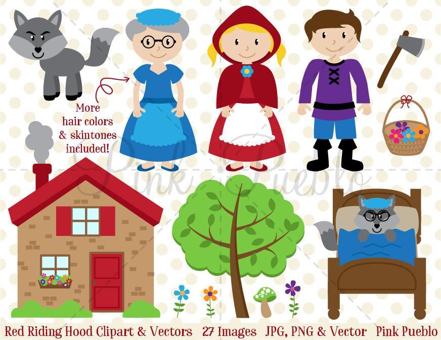 872x673 Little Red Riding Hood Clipart And Vectors Pinkpueblo