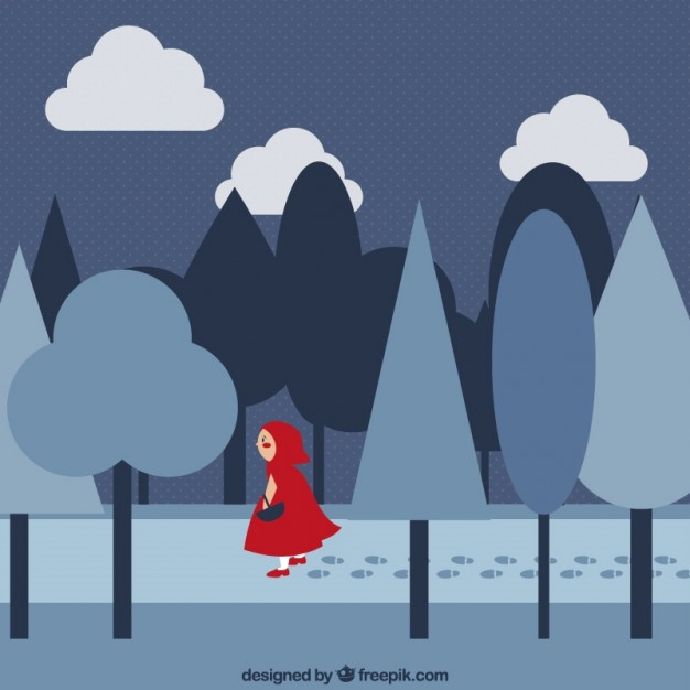 626x626 Little Red Riding Hood Vector Free Download